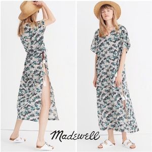 Madewell Gibraltar Caftan Maxi Dress in Mini Palms